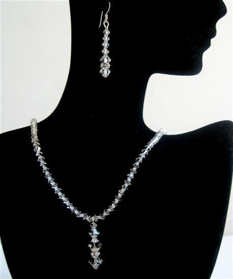 Primary image for Wedding Jewelry Swarovski Clear Crystals Bridesmaid Bridal Jewelry Set