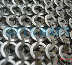 8mm Chain Mail Large Size Chainmail Shirt Flat Riveted Washers, Top Qaulity SCA - $244.30