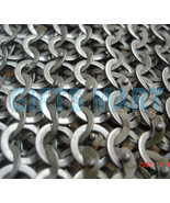8mm Chain Mail Large Size Chainmail Shirt Flat Riveted Washers, Top Qaul... - $244.30
