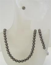 Swarovski Dark Brown Espresso Pearls 8mm Complete Set Necklace Earring - $49.78