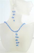 Swarovski Crystals AB Sapphire Swarovski Drop Necklace Earrings Set - $51.75