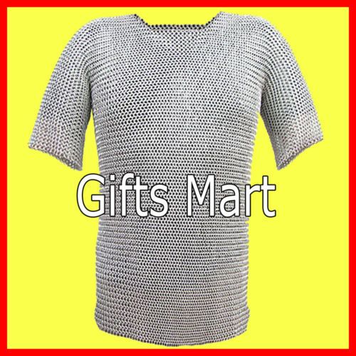 8mm Medieval Chainmail Shirt Aluminum XL Size Collectible Ancient Body Armour