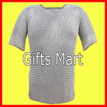 8mm Medieval Chainmail Shirt Aluminum XL Size Collectible Ancient Body Armour - $93.18