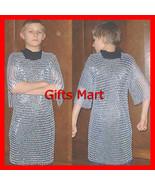 Aluminum Chainmail Shirt, Chain Mail Armor 10-15 yrs, Medieval Reenactme... - $83.43