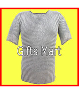 Aluminum Chainmail Shirt, Medieval Chain mail Armor Reenactment Armour C... - $80.49