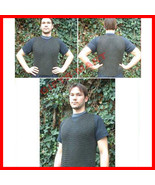 BLACKEND butted Chainmail sleeve less shirt  Medieval Chain mail armor L... - $94.14