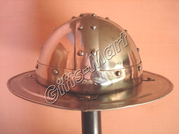 Battle Ready Kettle Helmet, Chapel-De-Fer Helmets, Medieval Kettle Hat Armour