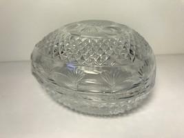 Vintage Avon Crystal Egg Trinket Box, 1970 Avon Egg Jewelry Box, Egg Tri... - $10.00