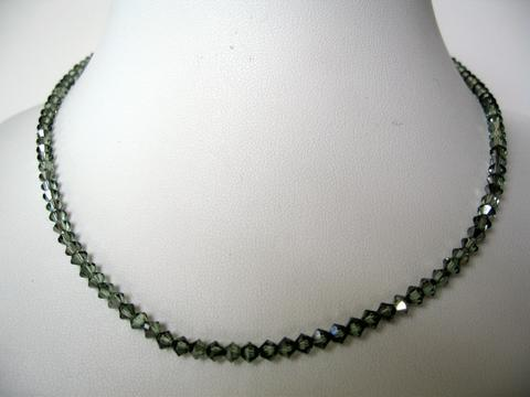 Chrysolite Satin Swarovski Crystals Round Neck Necklace String