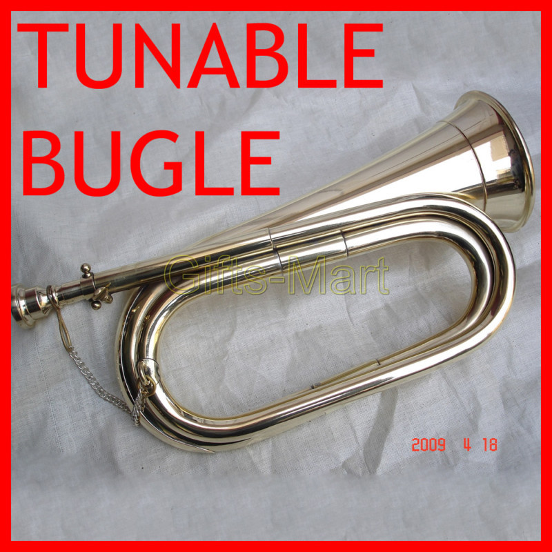 Bb Tunable Militaria Bugle Silver +Cushioned Hard Case, Unique Fancy Xmas Gift