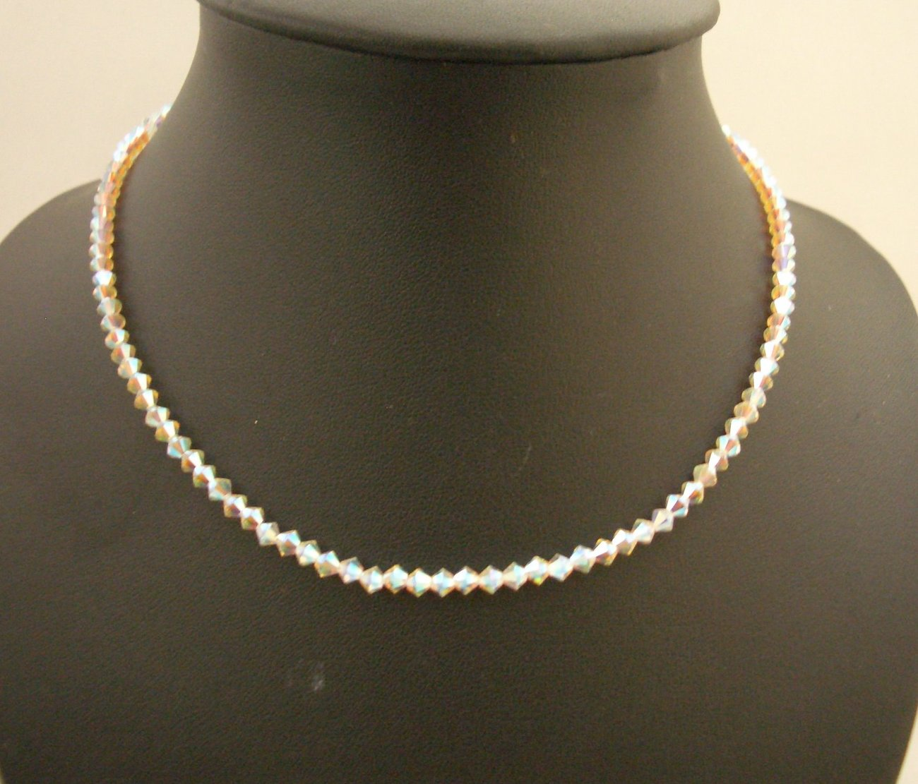 Primary image for Round Neck Necklace String Swarovski AB 2X Crystals Necklace