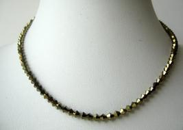 Sparkling NEW Swarovski Dorado Crystals String Necklace Expresso Color - $34.85