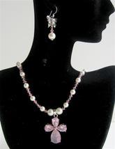 Swarovski Jewelry White Pearls & Lite Rose Crystals Necklace Sets - $45.88