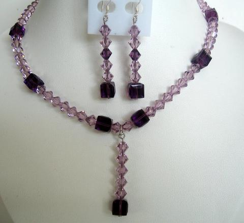 Primary image for Evening Party Jewelry Bridal & Bridesmaid Amethyst Crystals TearDrop