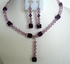 Evening Party Jewelry Bridal & Bridesmaid Amethyst Crystals TearDrop - $47.18