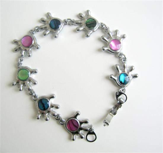 Primary image for Multi Abalone Shell Bracelet Abalone Beads Embedded In Hands Bracelet