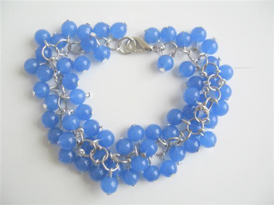 Blue Beaded Jewelry Blue Beads Bracelet Trendy Bracelet