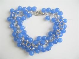 Blue Beaded Jewelry Blue Beads Bracelet Trendy Bracelet - $14.03