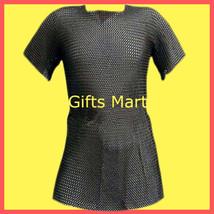 Chain mail Shirt Black,Medieval Armor Militaria chainmail,Militaria Reenactment - $69.76