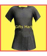 Chain mail Shirt Black,Medieval Armor Militaria chainmail,Militaria Reen... - $69.76