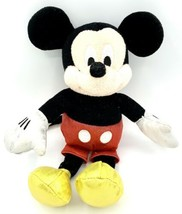 Disney Ty Sparkle Mickey Mouse Plush Stuffed Doll Silver Gloves Gold Sho... - $5.93
