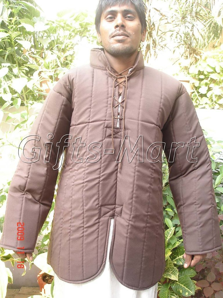 Early Gambeson Suitable for Re-enactment & LARP, Medieval Padded Cotton Jacket