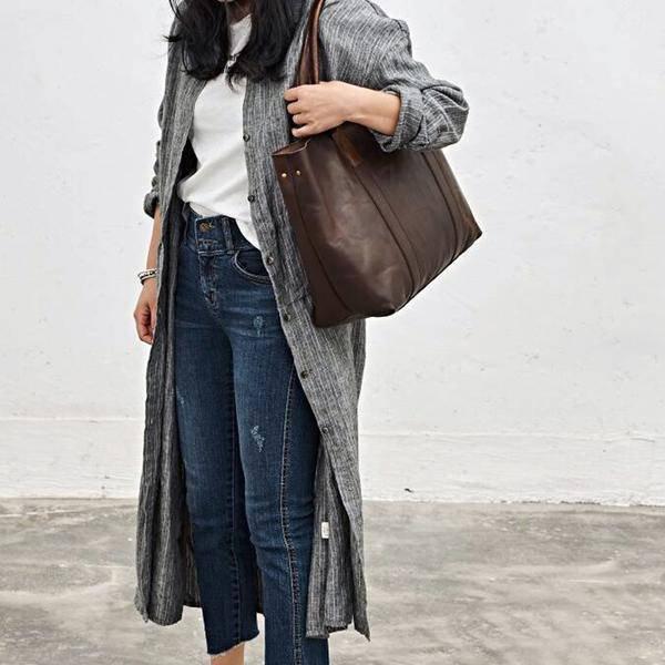 On Sale, Handmade Women Tote Bag, Full Grain Leather Shoulder Bag image 6