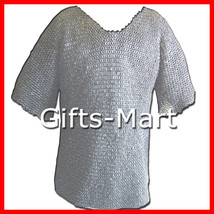 FLAT RIVETED Chain Mail chainmail Shirt Chainmail Armor Medieval Chainma... - $219.93