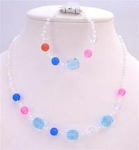 Girls Fancy Beads Small Round White Beads Red Blue Pink Gift Jewelry - $8.18