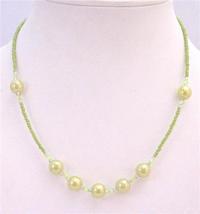 Girls Jewelry Olivine Beaded Tiny Big Necklace Dollar Necklace Jewelry - $4.30
