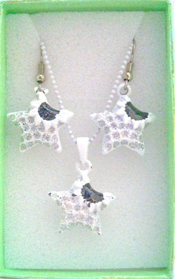 Primary image for Star Fish Pendant & Earrings Girls Jewelry Set w/ Gift Box