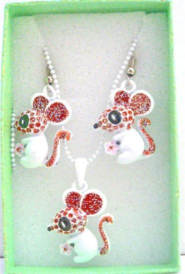 Primary image for Cute Rabbit Pendant & Earrings Girls Gift Jewelry w/ Gift Box