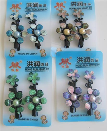 Enamel Flower Girls Clamp Clip Girls Hair Clamp