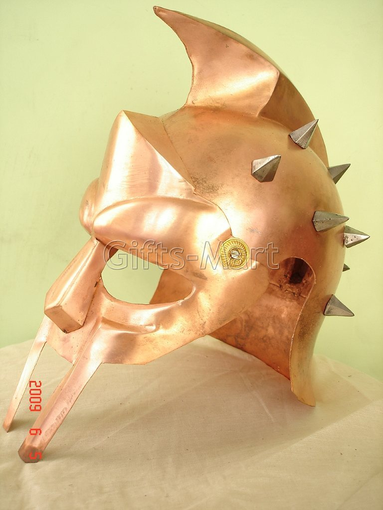 GLADIATOR HELMET Medieval Roman Greek Armor Larp MAXIMUS Helmets, Xmas Gif