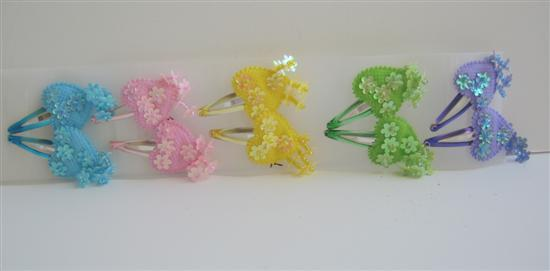 Girls Hair Clips Multi Colors Set Of 5 Pairs