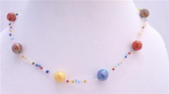 Soothing Cool Mulicolored Big & Small Beads Summer Girls Necklace