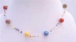 Soothing Cool Mulicolored Big & Small Beads Summer Girls Necklace - $4.30