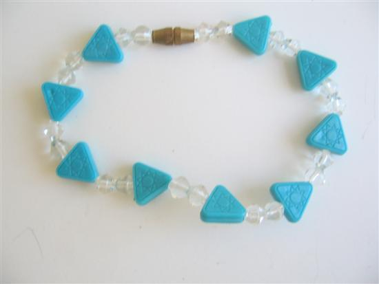 Blue & White Beads Girls Bracelet w/ Opening & Closing