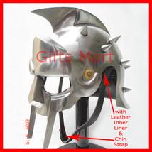 GLADIATOR MAXIMUS HELMET, Medieval ROMAN GREEK ARMOR Free LINER,Christma... - $39.91