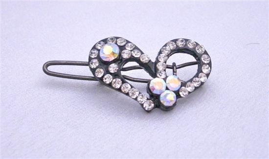 Heart Hair Clamp Simulated Diamond Heart Hair Clip