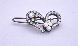 Heart Hair Clamp Simulated Diamond Heart Hair Clip - $8.85