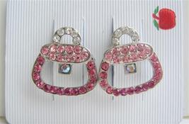 Vintage Purse Pink Crystals Hair Barrette Hair Barrette Clip - $14.37