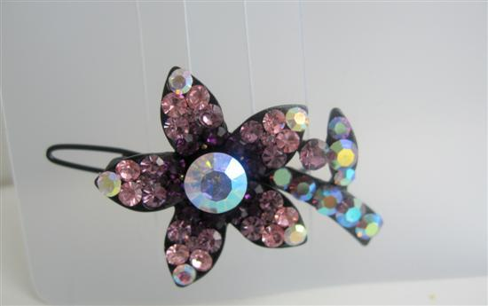 Primary image for Hair Barrette Sparkling Amethyst Hair Clip Barrette
