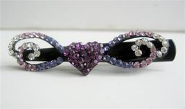 Bridemaid Party Wear Accessory Bridal Barrette Swarovski Crystals Clip - $13.40