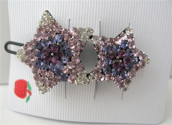 Primary image for Amethyst Star Crystals Clip Sparkling Hair Barrette Exquisite Clip