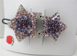 Amethyst Star Crystals Clip Sparkling Hair Barr... - $13.38