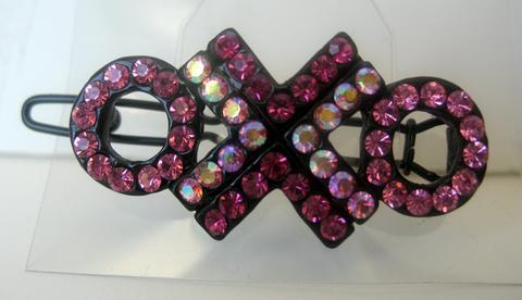 Hair Accessories Country Pink Crystal Party Wear Austrian Barrette