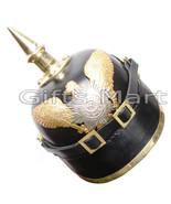 German Prussian Spiked  Pickelhaube Helmet, WW1 Leather, Fancy Medieval ... - $82.00