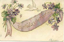 Birthday Greetings Vintage Post Card - $3.00