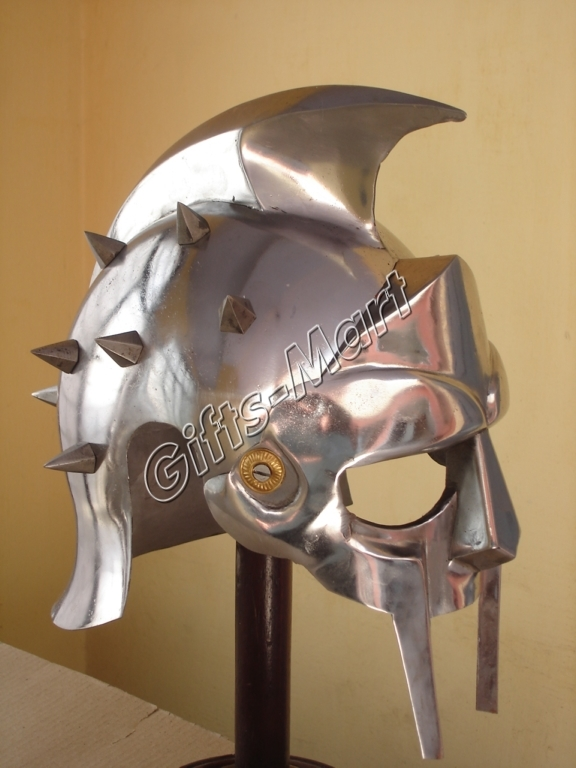 Gladiator Maximus Helmet Medieval Greek Armor Movie Stage Drama Prop Fancy Dress